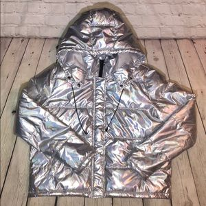 Silver Iridescent Forever 21 Jacket